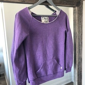 TNA purple casual sweater